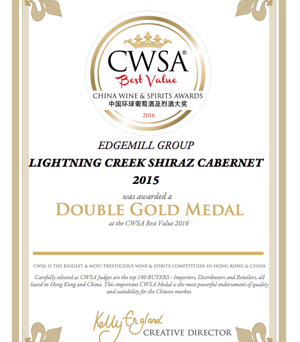 EDGEMILL RECEIVE ANOTHER AWARD AT CWSA
